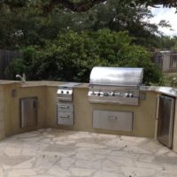 Hill Country Outdoor Kitchen Counter